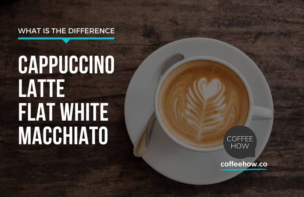 Difference between Cappuccino,Latte, Flat White and Macchiato