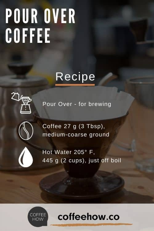 Pour Over Coffee Recipe - coffeehow.co