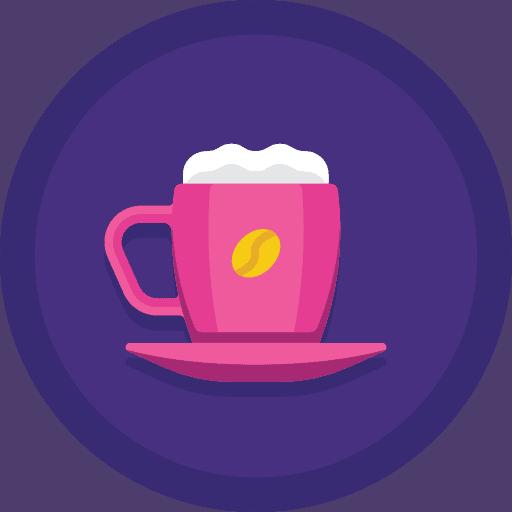 Cortado coffee icon