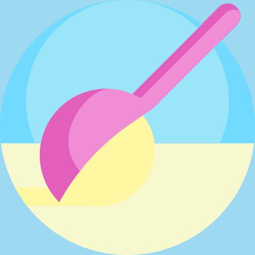 Affogato coffee icon