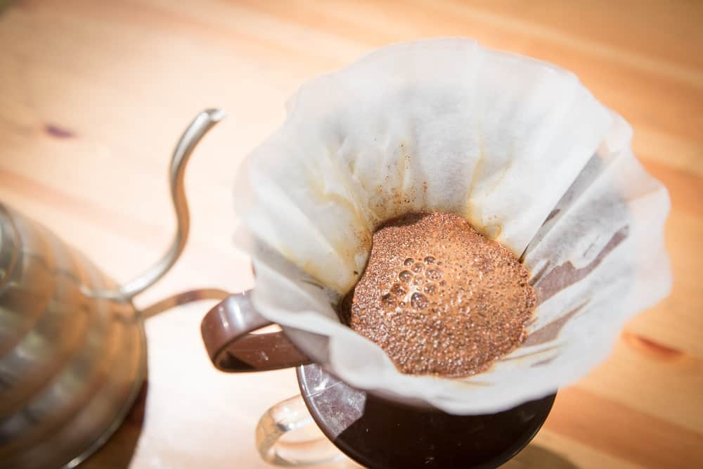 How to make Pour Over Coffee - Step 6: Wait! - CoffeeHow.co