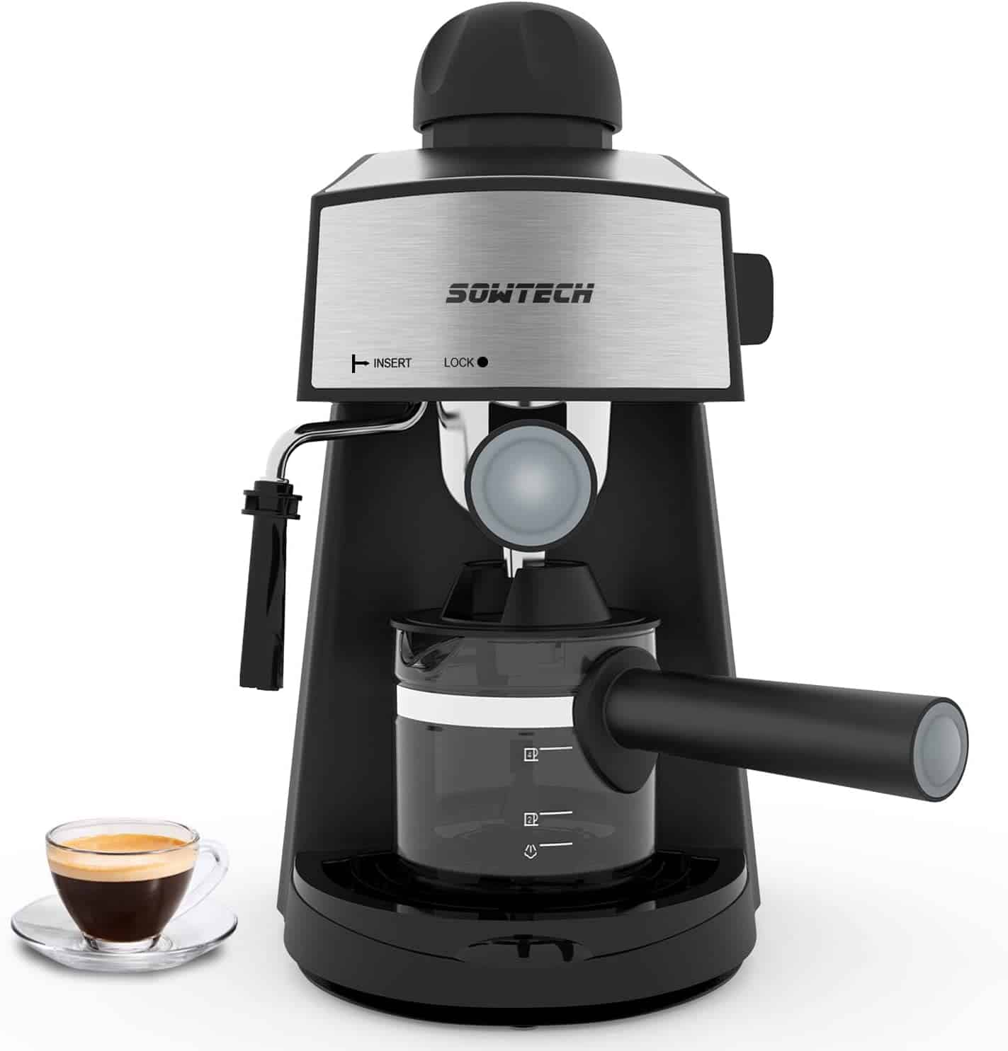 Sowtech Espresso Maker with Steam Milk Frother