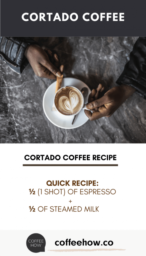 Cortado Coffee - Quick Recipe - coffeehow.co