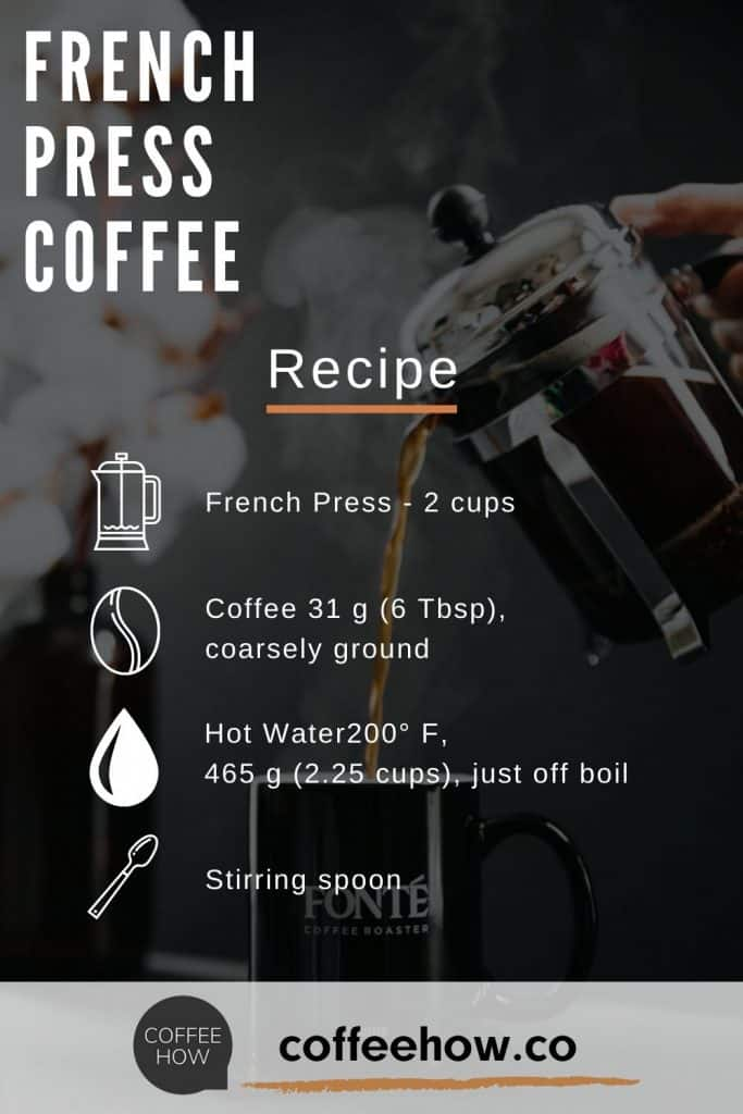How to make French Press Coffee - Recipe - coffeehow.co