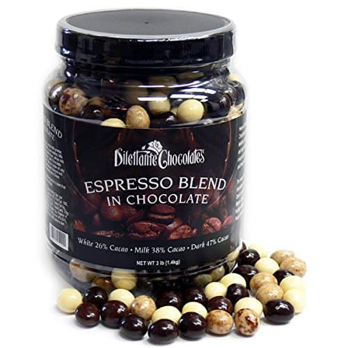 Dilettante Chocolates Chocolate Covered Espresso Bean Blend Jar