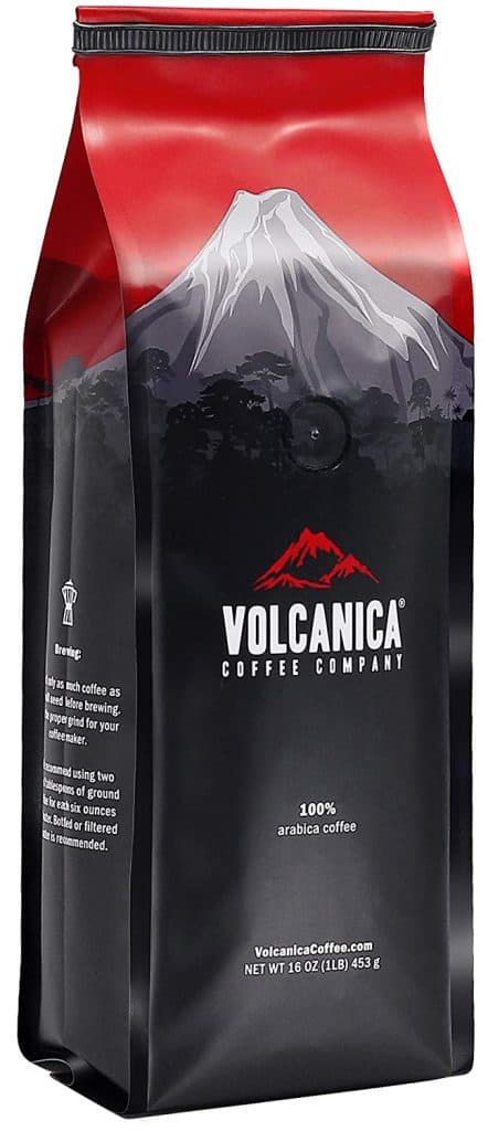 Volcanica Hazelnut Flavored Coffee Grounds