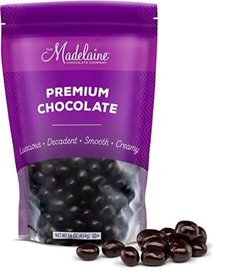 Madelaine Chocolate Company Premium Dark Chocolate Covered Espresso Coffee Beans