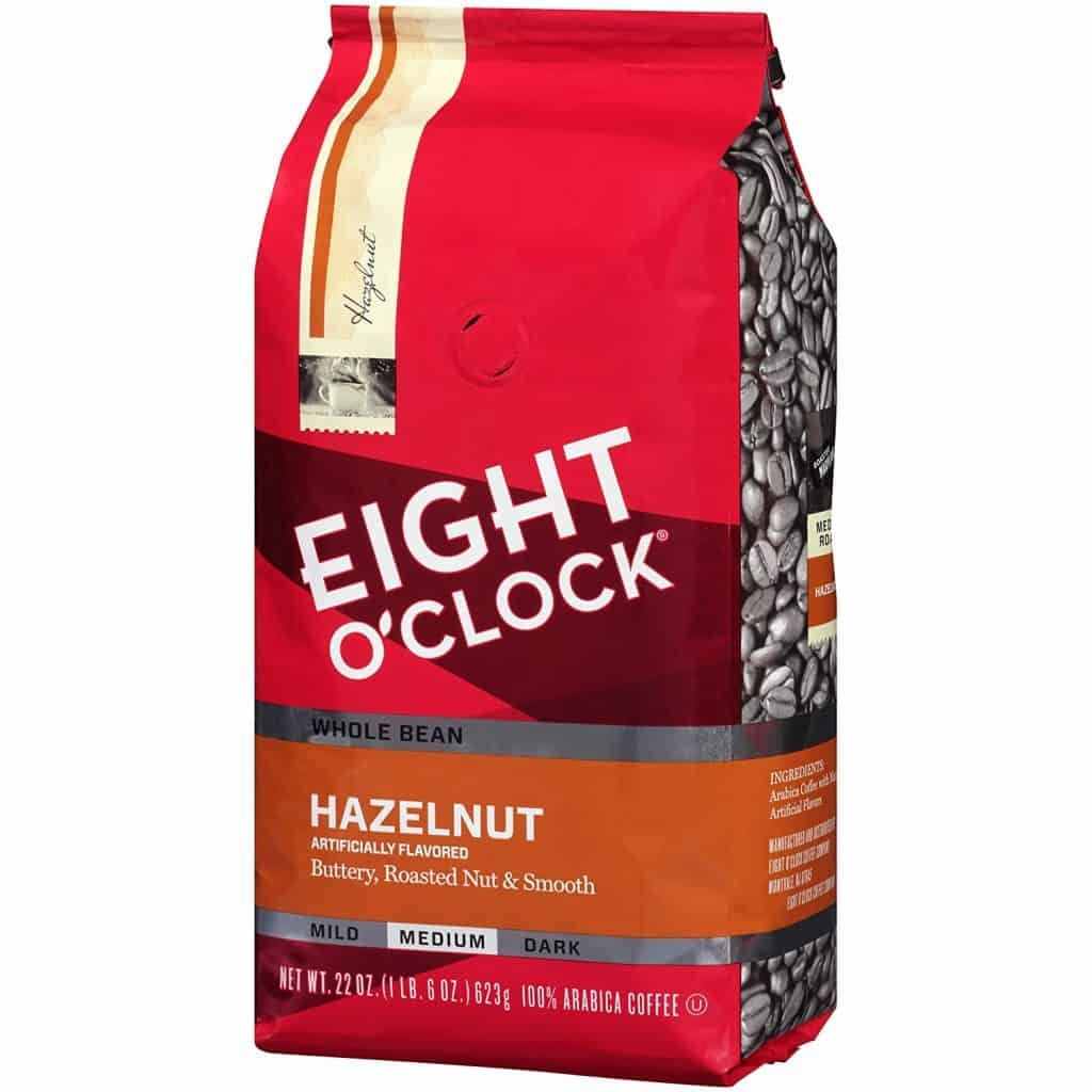 Eight O Clock Hazelnut Whole Bean Coffee