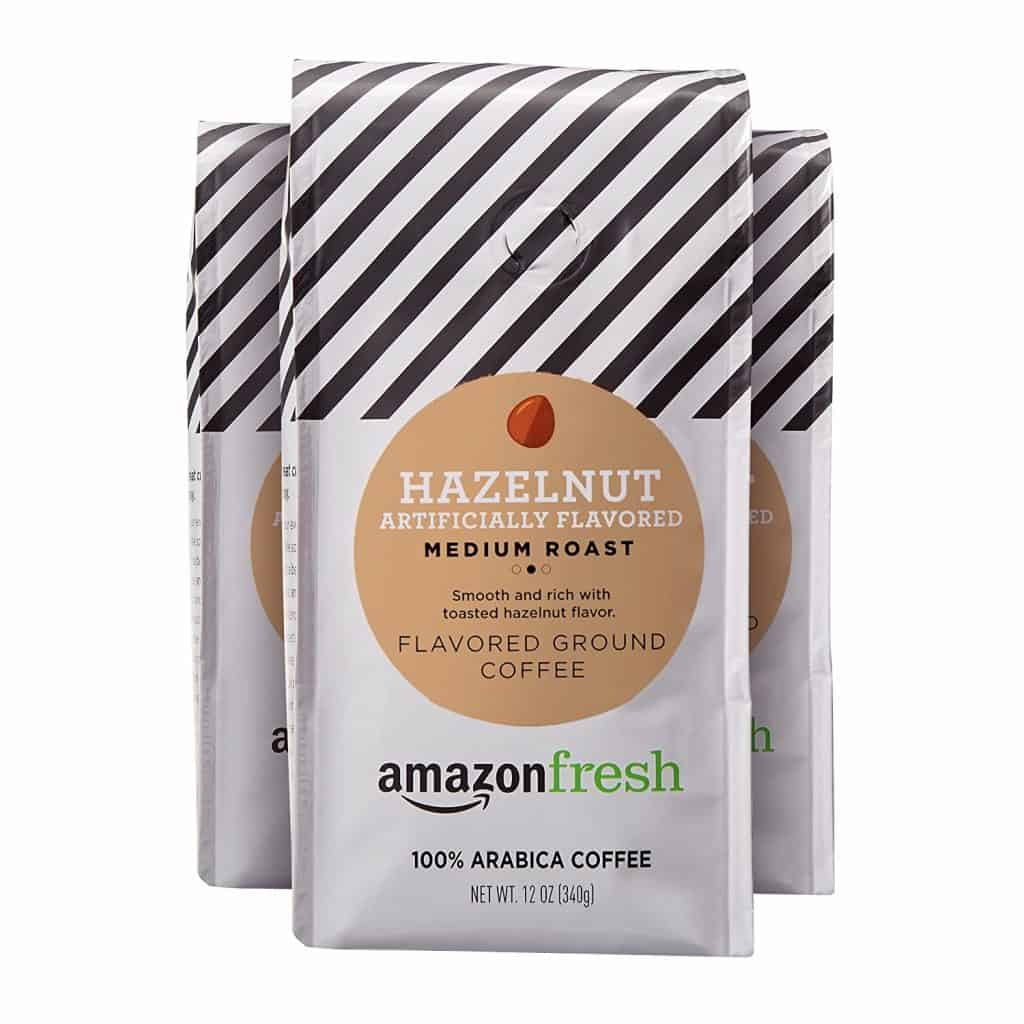 Amazon Fresh Hazelnut Flavored Coffee