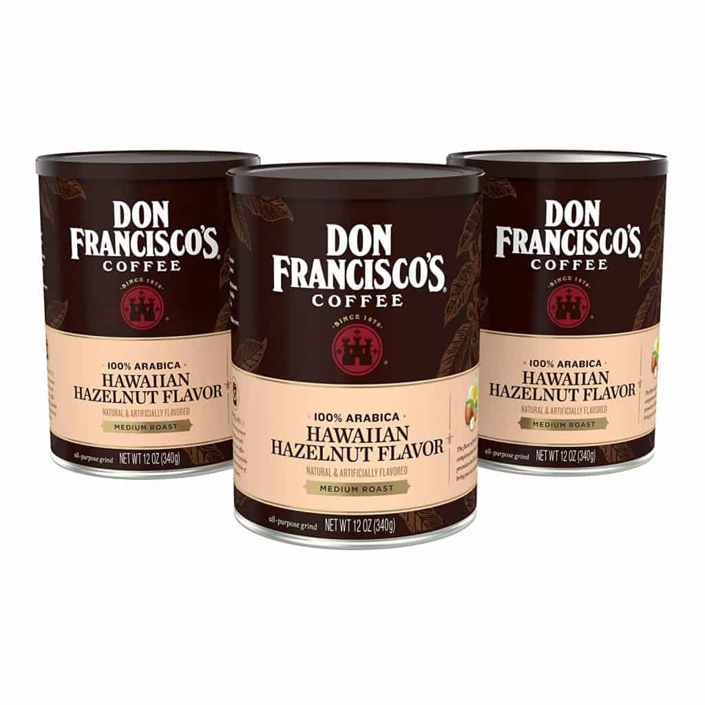 Don Franciscos Hawaiian Hazelnut Flavored Ground Coffee