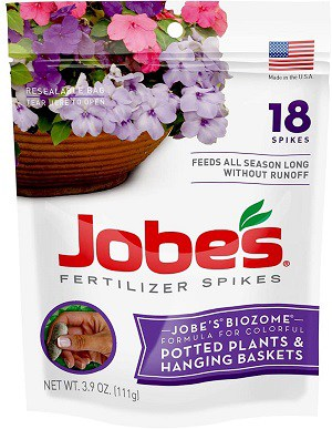 Jobes Hanging Baskets and Potted Plants Fertilizer Spikes