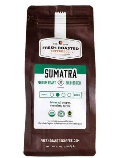 Fresh Roasted Coffee Organic Sumatra