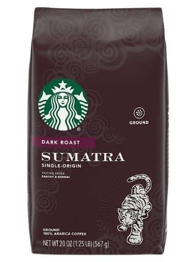 Starbucks Dark Roast Sumatra Ground Coffee