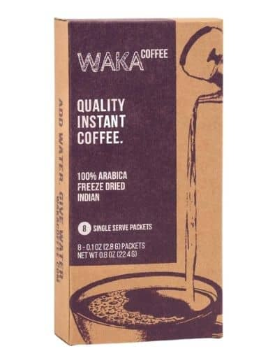 Waka Coffee Quality Instant Coffee, Indian, Light Roast
