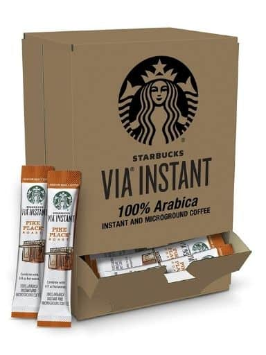 Starbucks VIA Instant Coffee Medium Pike Place Roast Packets