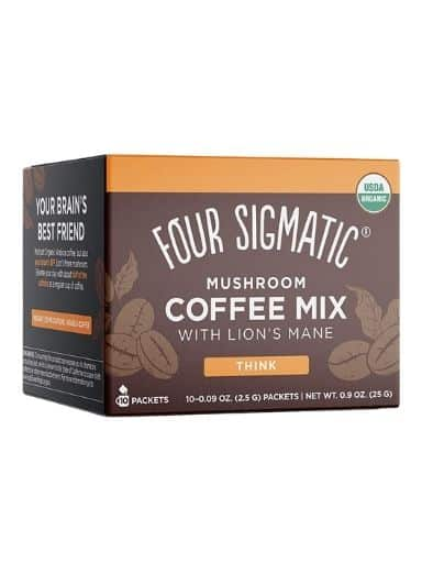 Mushroom Coffee by Four Sigmatic, Organic and Fair Trade Instant Coffee