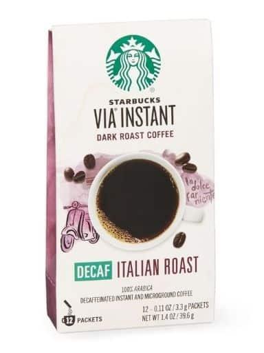 Starbucks VIA Ready Brew Coffee, Decaf Italian Roast, 50 Count, 5.8 Ounce