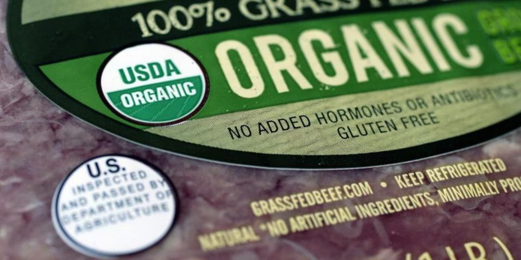 USDA Organic sign