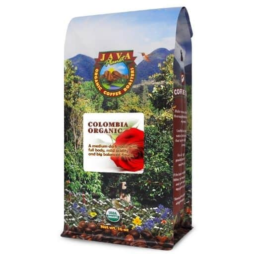 Java Planet Colombian Organic Coffees